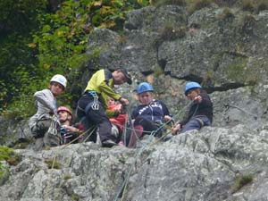 family climbing holiday